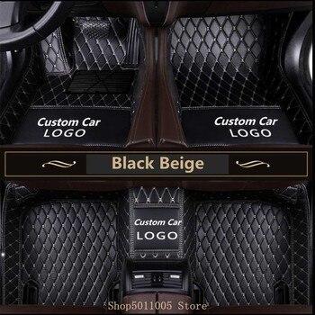 Custom Logo Car Floor Mats for Hyundai Genesis Sedan 2015-2019 Custom-Fit All Weather Carpet waterproof Auto Floor Mats
