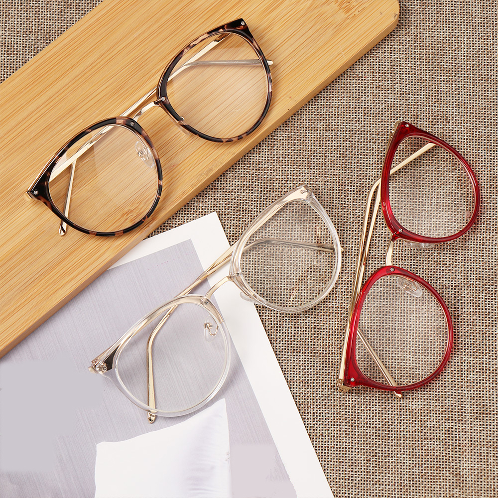 Reading Glasses Women Men Lightweight Clear Lens Presbyopia Eyeglasses Myopia Optical Glasses Round Frame Vintage Eyewear