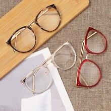 Gafas de lectura mujeres hombres ligero lente clara presbicia gafas miopía gafas ópticas marco redondo Vintage gafas