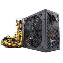 2 шт. 2000 Вт майнинга биткоинов PSU PC Питание компьютер Горнодобывающий Риг 8 GPU Блок питания ATX эфириума монета Питание
