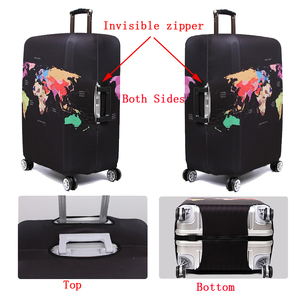 Image 5 - Thick Elastic Geometric Luggage Protective Cover Fashion Trolley Case For Suitcase Cover Baggage Travel Bag Cases 273