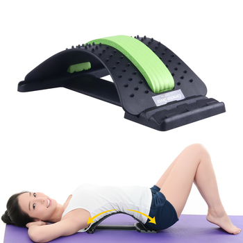KLASVSA Back Massager Magic Stretcher Equipment Stretcher Relax Mate Lumbar Support Spine Pain Relief Acupuncture Chiropractic