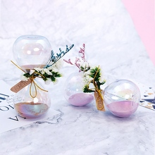 Dried flowers Hourglass Glass Sand Timer Game For Home Office Decoration Valentines Day Birthday Gift