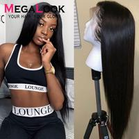 Straight Lace Front Wig 360 Lace Frontal Wig Transparent Lace Wigs Brazilian Remy13x6Lace Frontal Wig Pre Plucked Wigs For Women