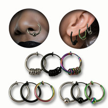 Fake Piercing nose ring tragus Septum sexy jewelry Lip Hoop Rings Earrings nose ring clip stainless steel jewelry(China)