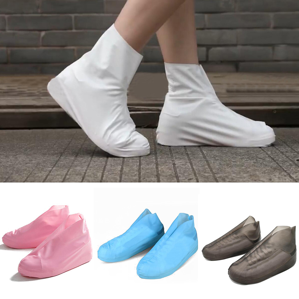 1Pair Reusable TPU Waterproof Shoe Covers Anti slip Rain Rubber Boots Overshoes Case Slip resistant Child Adult Shoe Accessories in Shoes Covers from Shoes