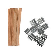 10 sztuk 12 5 13mm drewniane świece knot rdzenie z żelaza stoi Sustainer świeca knot rdzeń Handmade DIY wosk ozdoba do domu rękodzieło tanie tanio