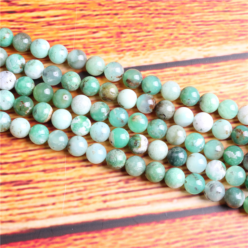 Australian Jade Natural Stone Bead Round Loose Spaced Beads 15 Inch Strand 4/6/8 / 10mm For Jewelry Making DIY Bracelet Necklace