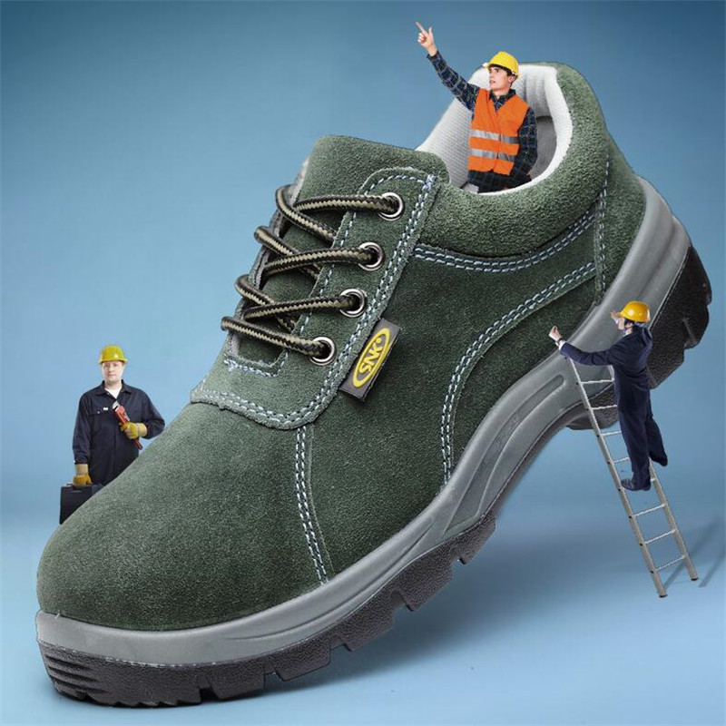 Summer Mens Steel Toe Work Safety Shoes Breathable Genuine Leather Casual Shoes Men Work Boots Protective Footwear Safety Boots in Work Safety Boots from Shoes