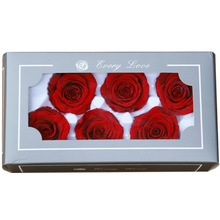 6pcs/box Artificial Flowers Rose  5-6CM Preserved Eternal Roses Box Newyear Valentines Gifts Forever Everlasting Level A