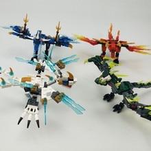 Para o criador ninjagoing mecha dragão cavaleiro ninja jay zane kai lloyd figuras blocos de construção brinquedos criadores compatíveis ninjagoings