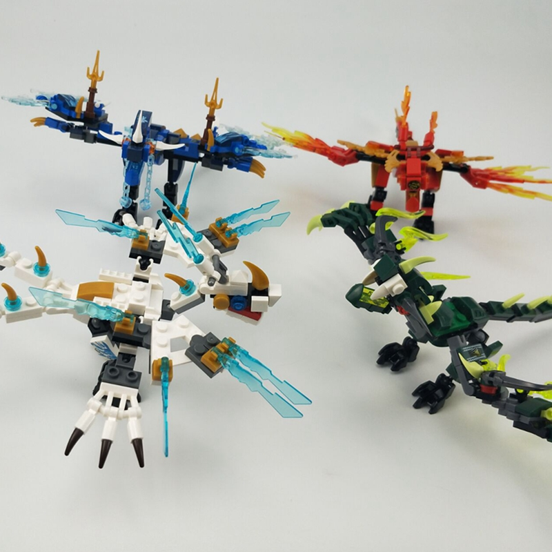 Для Legoing Ninjagoing Mecha Dragon Knight Ninja Jay Zane и Kai Lloyd фигурки, строительные блоки, игрушки, совместимые с Legoings Ninjagoings|Блочные конструкторы|   | АлиЭкспресс