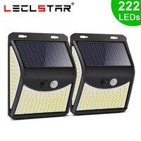 222 LED Solar Lampe Outdoor Straße Lichter Wasserdichte Wand Lampe Mit Motion Sensor Außen Terrasse Garten Terrasse Dekoration 4 Modus