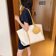 Большая школьная сумка для женщин, новинка 2020, модная универсальная вместительная сумка через плечо, брендовая Оригинальная дизайнерская с...