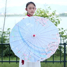 Color paper handmade oil umbrella classical bamboo dance craft multi-size decorative small flower