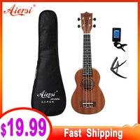 Aiersi full pack 21 inch ukelele mahogany Soprano gecko ukulele guitar musical gifts instrument 4 string Hawaiian mini guitarra