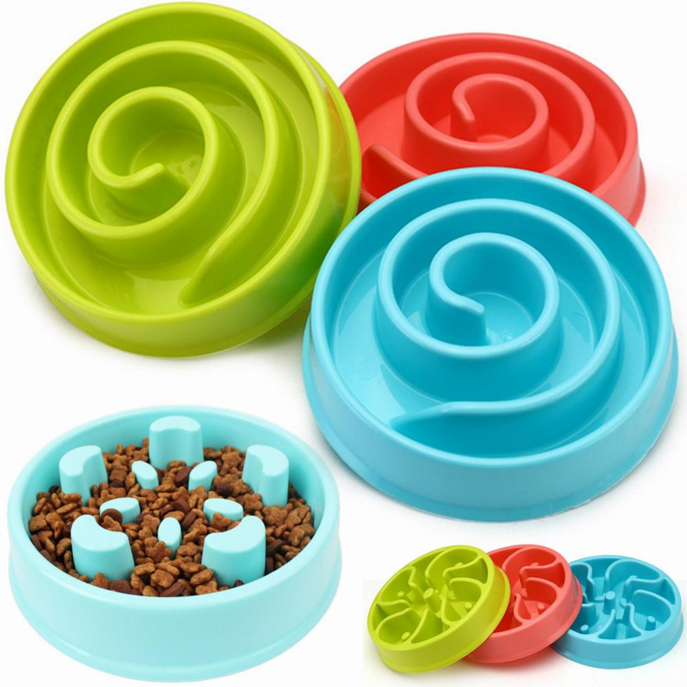 Pet Dog Feeding Food Bowls Puppy Slow Down Eating Feeder Dish Bowel Prevent Obesity Dogs Supplies Dropshipping
