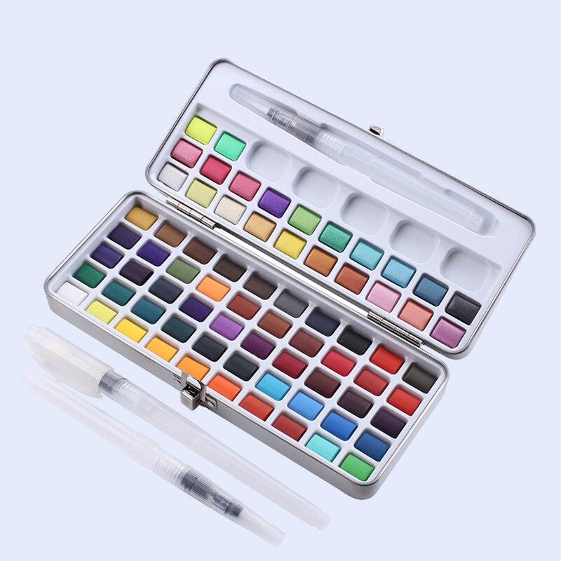 CHENYU 50/72/90 цветов, однотонный цвет, яркий набор, подаропосылка, базовый блеск, цвет воды, краска для рисования, художественные принадлежности