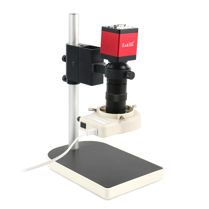 HD 720P 13MP HDMI VGA Industrial Digital Video Microscope Camera+100X C Mount Lens+56 LED Ring Light+Stand Holder For PCB Repair
