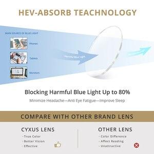 Image 2 - Cyxus blokujące niebieskie światło komputerowe okulary do oczu Anti Eye jasne szkło PC TR90 rama Upgrade dla mężczyzn kobiety okulary 8182