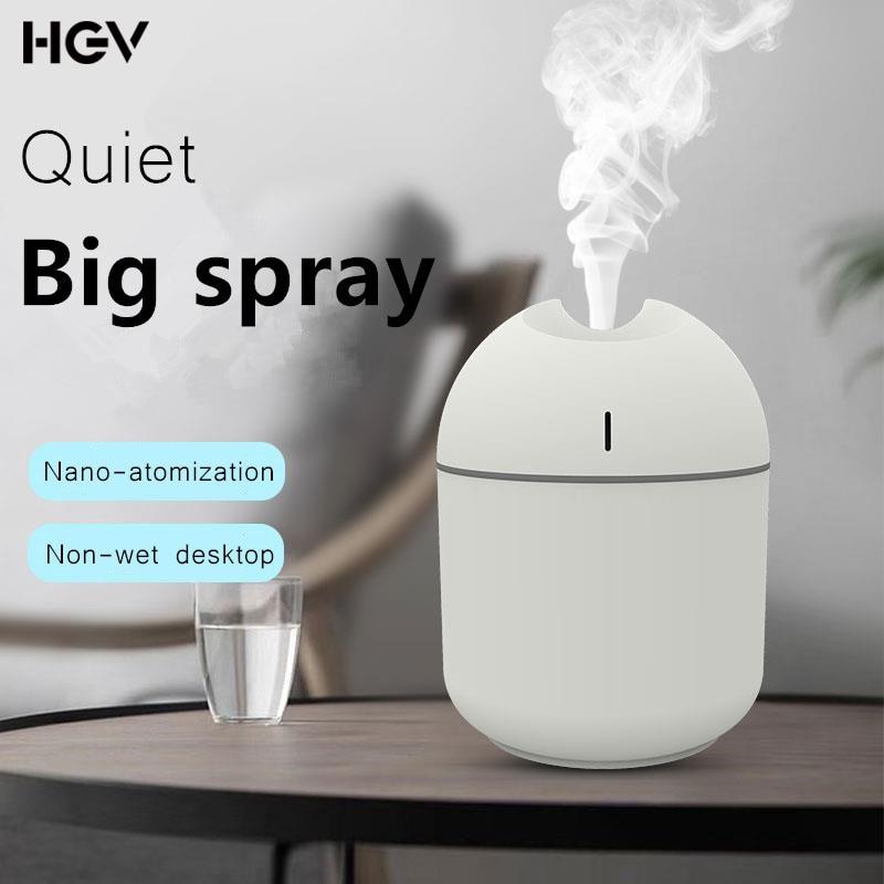 HGV Mini Air Humidifier USB 200ML Portable Aroma Essential Oils Diffuser for Home Office Car Portable Ultra-Quiet Mist Maker