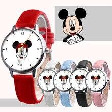 Quartz-Watch Mickey Mouse Minnie Birthday-Gifts Fashion Children's Disney Belt Christmas