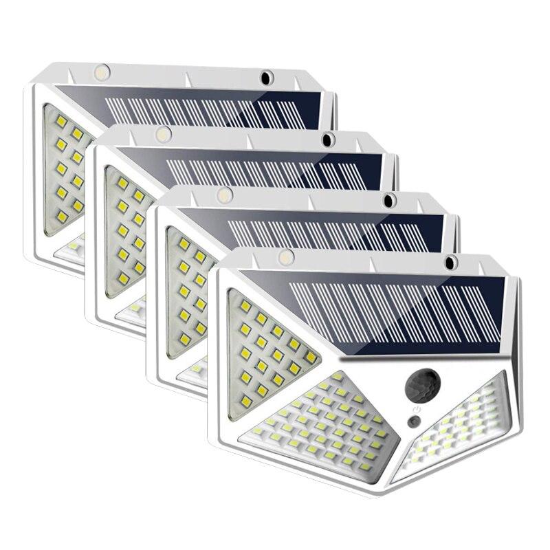 2020 New 100 LED Solar Light Bulb Wall Light PIR Motion Sensor Waterproof Outdoor Lighting Garden Lamp Decoration Porch Lights