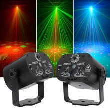 جديد مصباح LED قرصي USB قابلة للشحن RGB عرض بالليزر مصباح مع وحدة تحكم لاسلكية تأثير أضواء للمسرح حزب DJ KTV الكرة