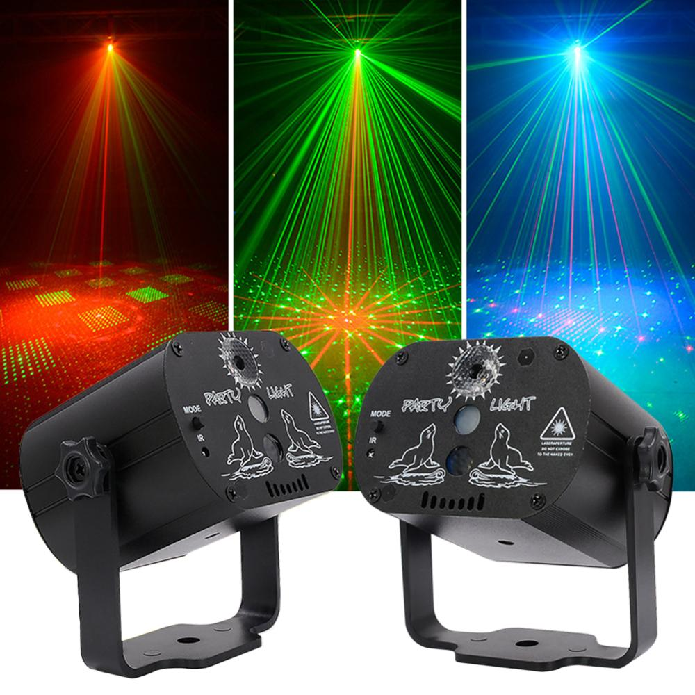 New LED disco light USB rechargeable RGB laser projection lamp with wireless controller effect stage lights party DJ KTV ball-in Stage Lighting Effect from Lights & Lighting