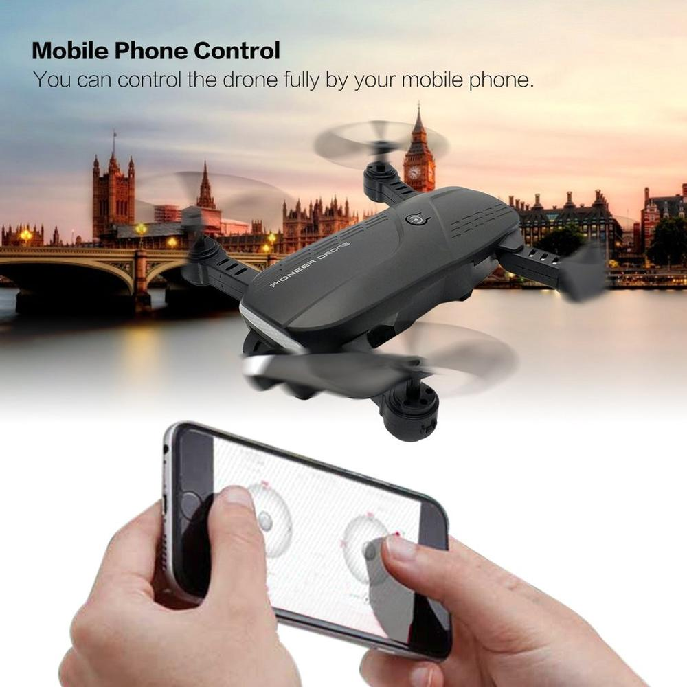LH-X28GWF Mini Wifi Control Distance GPS FPV 4-Axis RC Drone with 1080P HD Camera LED Light One Key Return 3 Batteries
