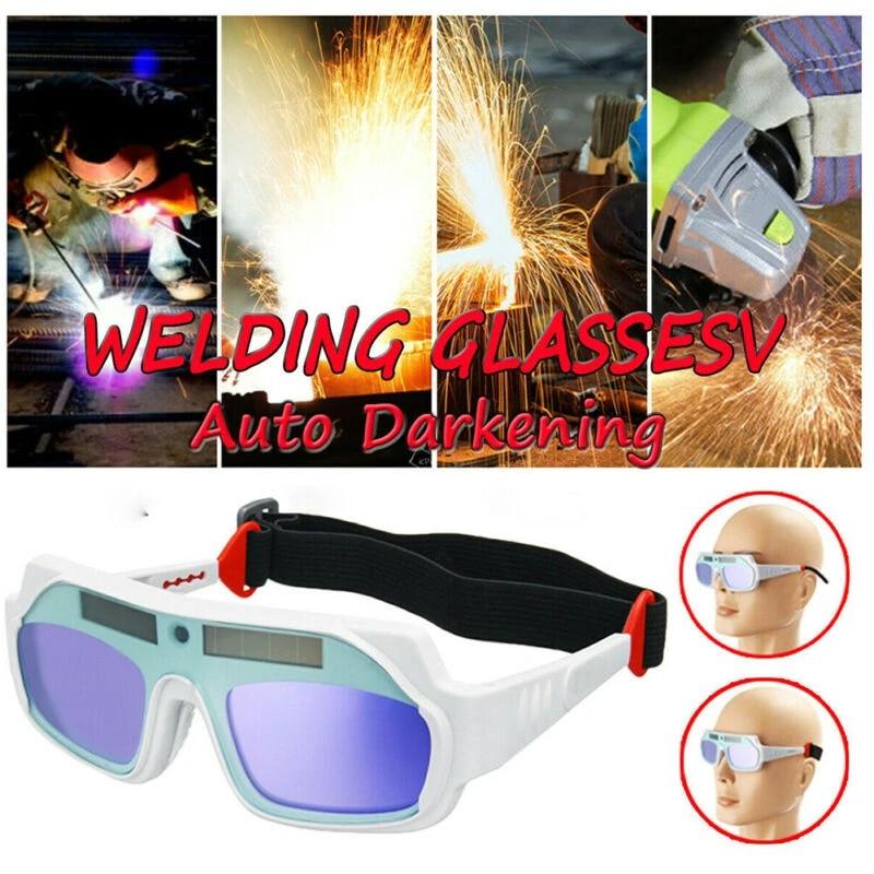 1pc Auto Darkening Mask Welding Lcd Screen Solar Powered Helmet Goggle Welding Glasses Eye Welder Mask Soldering Iron Welding Helmets Aliexpress