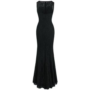 Image 2 - แองเจิลแฟชั่น Halter แขนกุด vestidos de Noche ชุดราตรียาวสีดำ 160 425 439 416 418 477