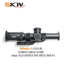 SKWoptics 1-12x26 Rifle scopes with 34mm CNC one piece mount rings Military Tact