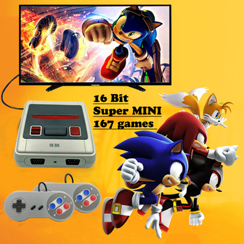цена на Super Retro Mini TV Video Game Console For Sega Mega Drive MD 16 Bit Games 167 Different Built-in Games Two Gamepads AV-Out New