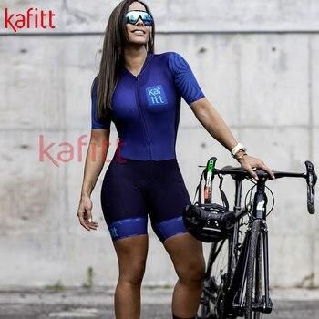 Kafitt novo pro ciclismo macacão terno senhoras triathlon equipe bicicleta de montanha macacão macaquinho feminino 1