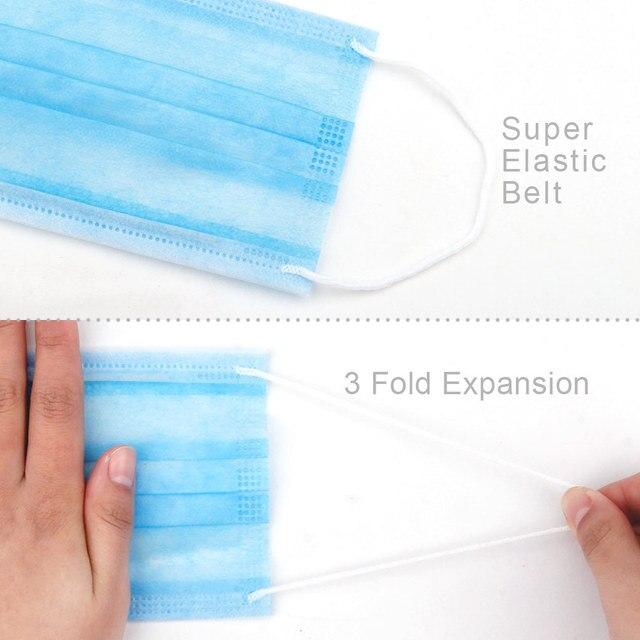 5pcs  9502V Protective Fold Masks Anti Dust Flu H1N1 PM 2.5 Multi Layer Filter Structure Industrial Fog enviroment 2