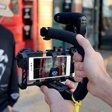 Elektronik aksesuarlar Video standı sabitleyici C şekli el kavrama kamera