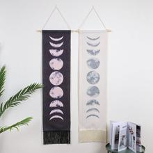 Księżyc zaćmienie zmiana gobelin Galaxy sztuka z nadrukiem dywan krajobraz gobelin Home Decor Wall Hanging dekoracyjne gobeliny tanie tanio Poliester bawełna Drukowane Nowoczesne Other Prostokąt