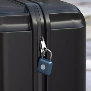 Image 4 - Youpin USB Rechargeable Smart Keyless Electronic Fingerprint Lock Home Anti theft Safety Security padlock Door Luggage Case lock