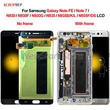 Para samsung galaxy note fe 7 n930 n935 lcd screen display toque digitador assembléia para samsung nota 7 fe n930f n935f/ds lcd