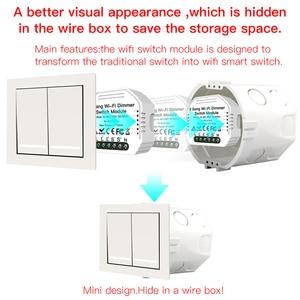 Image 5 - 2 Gang 2 yollu WiFi akıllı işık LED Dimmer Diy kesici modülü anahtarı akıllı ömrü/Tuya APP uzaktan kumanda alexa ile çalışmak Google