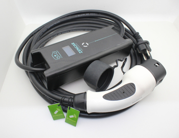 6 10 16A adjustable ev charger level 2 Zencar level 2 evse charger New design type 2 evse with RFID cards zencar ce 16a 24a 32a portable type 2 blue cee connector evse level 2 ev charger
