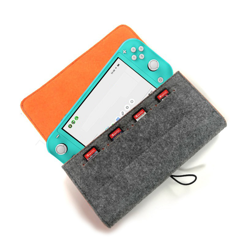 PG-SL008 Little Grey Wolf Storage Bag With Game Card Slot Do Memory Card