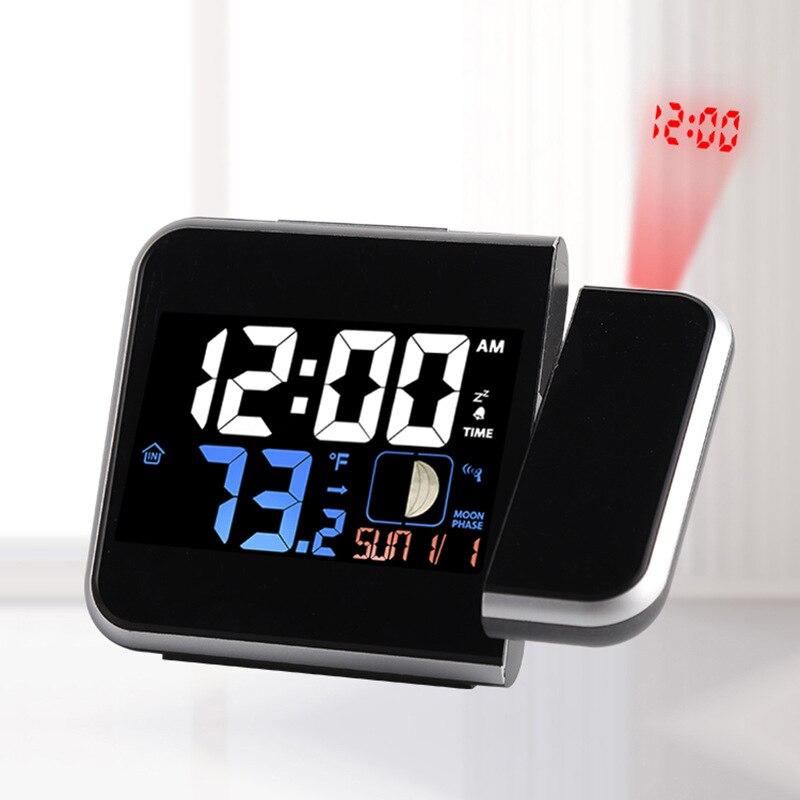 С цифрами часы с радиоуправлением в американском стиле многофункциональные Проекционные электронные часы высшего класса простые офисные электронные часы