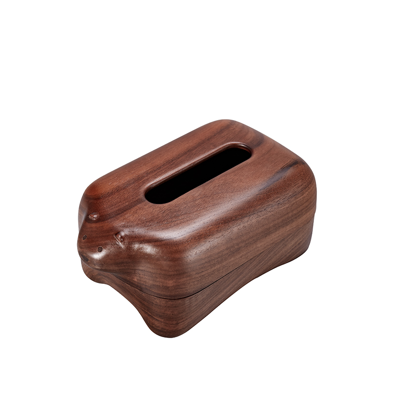Wooden Tissue Box Miniature Figurines Animals Household Paper Table Creative Desktop Storage Box Simple Fashion Home Decor