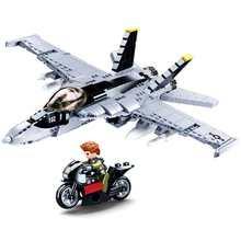 Militar f/A-18E super bumblebee greve hornet avião blocos de construção tijolos guerra modelo clássico educacional crianças moc brinquedos
