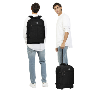 """2020 Fashion Rolling Luggage 37L Travel Backpack 20""""Carry On Wheeled Backpack Trolley Bag Men Luggage For Business male Suitcase"""
