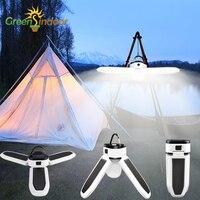 Tragbare Camping Lampe USB Zelt Licht Solar Notfall Licht Wasserdichte LED Laterne Power Bank Funktion Tragbare Batterie Im Freien