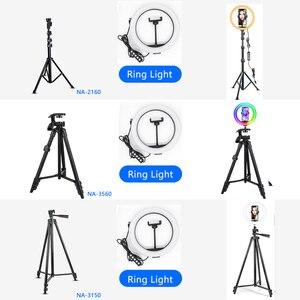 Image 2 - Bureau LED Anneau Lumière Dimmable Téléphone Enregistrement Vidéo Rond Lumière de Remplissage pour Youtube Tik Tok Vidéo Photographie Éclairage RingLight