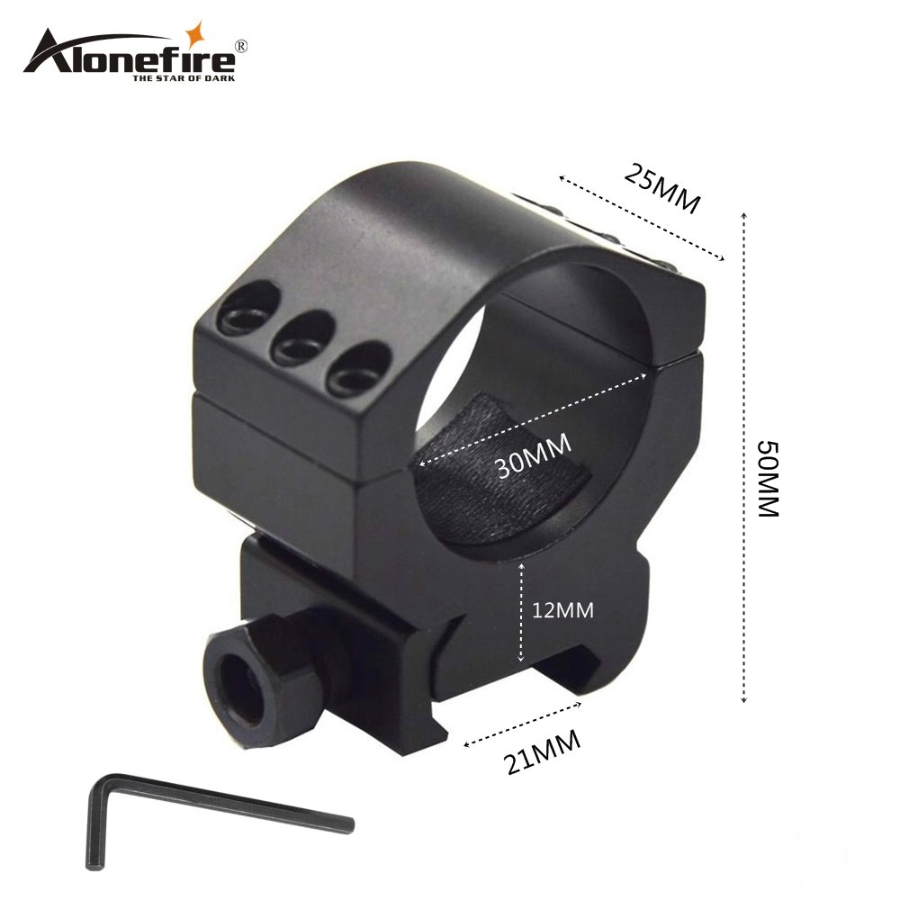Alonefire M31 30mm Ring Low Picatinny 21mm Weaver Rail Airsoft Rifle Shot Gun Light Laser Sight Scope Hunting Mounts Accessories